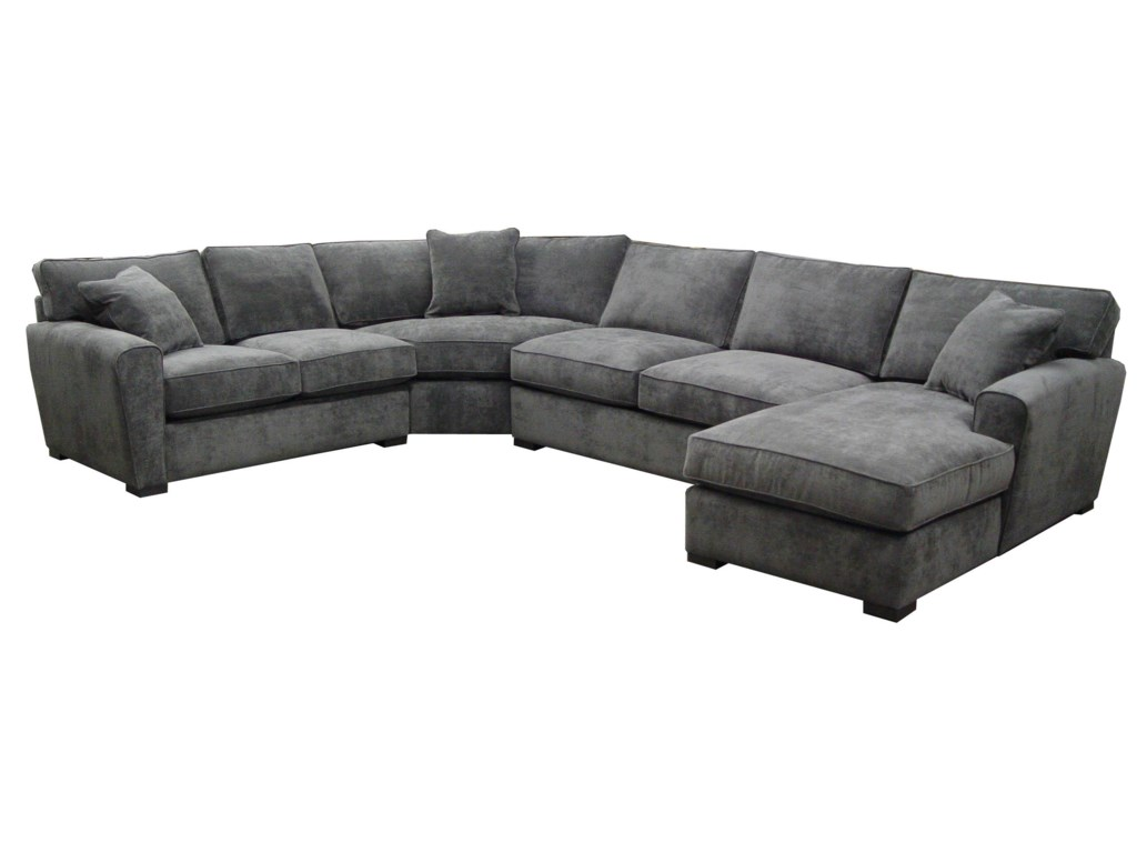 Jonathan Louis Choices Artemis 4 Piece Sectional With Upholstered Base