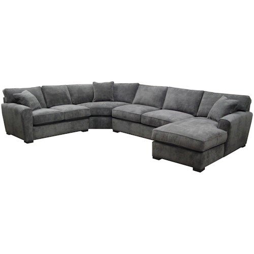 Jonathan Louis Choices - Artemis 4 Piece Sectional with Upholstered Base