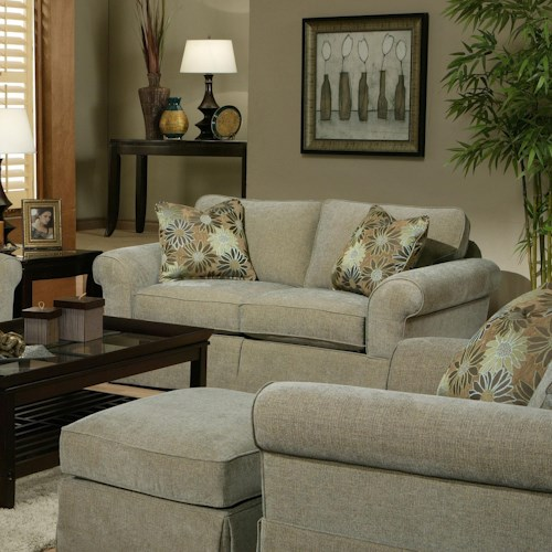 Jonathan Louis Choices - Athena Loveseat with Rolled Arms