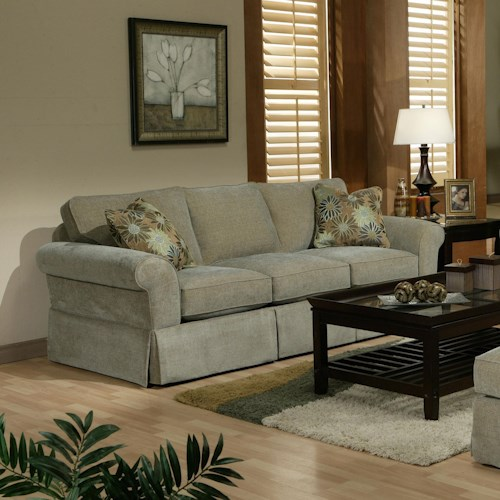 Jonathan Louis Choices - Athena Stationary Sofa with Rolled Arms