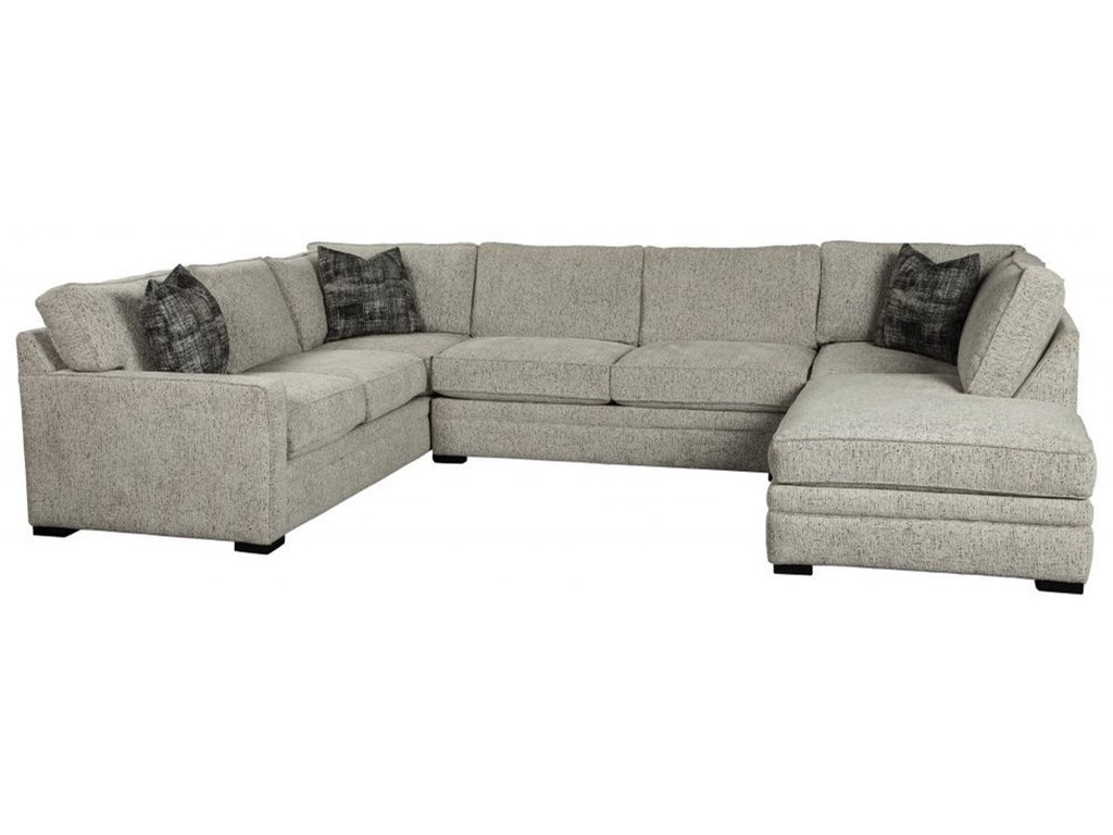 Choices - Juno Contemporary 3-Piece Chaise Sectional with Track Arms by  Jonathan Louis at John V Schultz Furniture