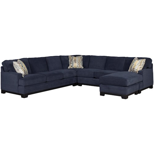 Jonathan Louis Choices - Kronos Contemporary 4-Piece Sectional Sofa with Right-Arm-Facing Chaise and Track Arms