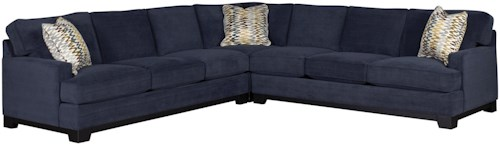 Jonathan Louis Choices - Kronos Contemporary 3-Piece Sectional Sofa with Track Arms