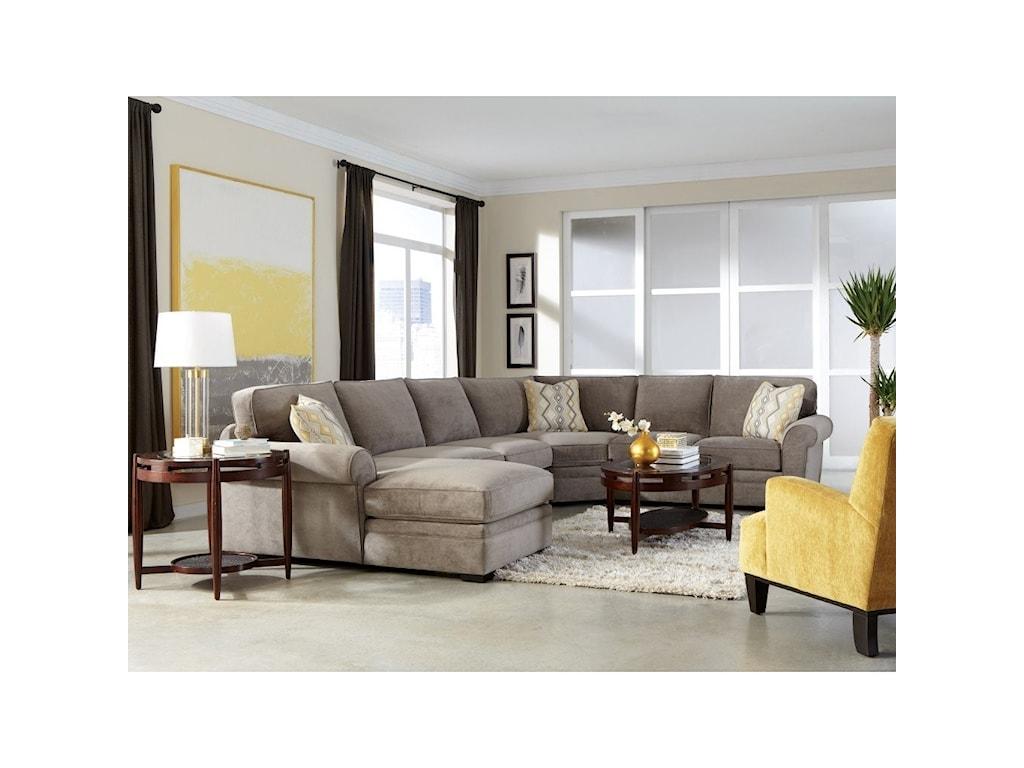 Jonathan Louis Choices - Orion4-Pc Chaise Sectional w/ Pluma Plush Cushion