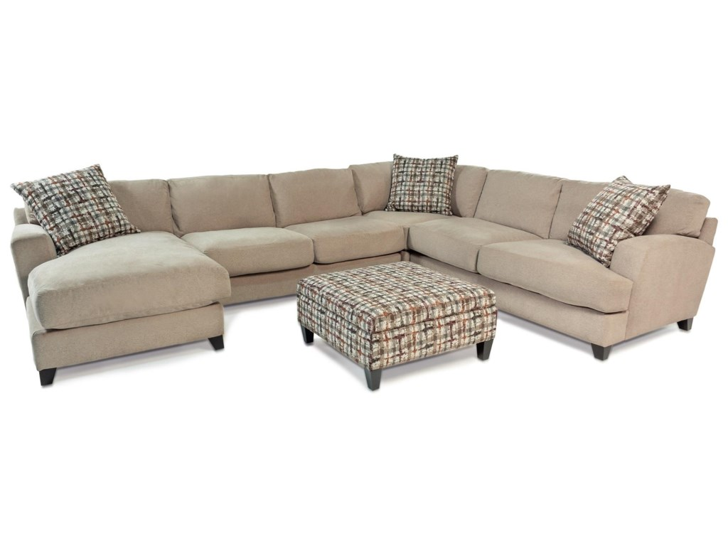 Derby Casual Contemporary Chaise Sectional by Jonathan Louis at Rotmans