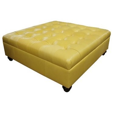 Jonathan Louis Clarice 87839 Square Leather Tufted Cocktail Ottoman Thornton Furniture Ottomans
