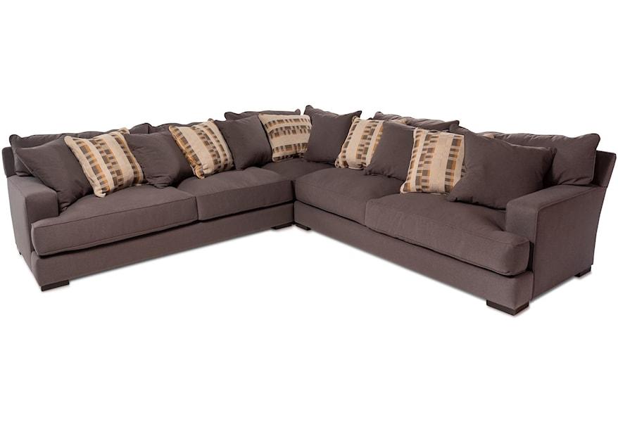 Devon 3pc Sectional Sofa W Wide Track
