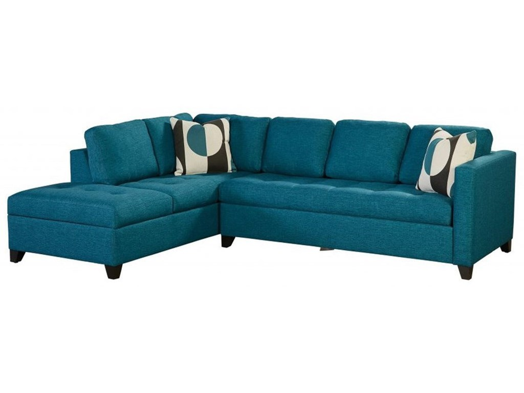 Dexter Contemporary 4-Seat Sectional Sofa with RAF Sleeper ...