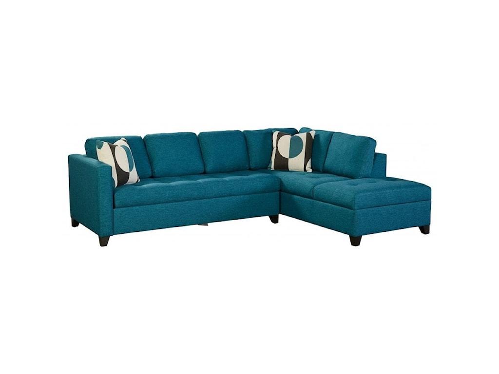 Jonathan Louis Dexter Contemporary 4-Seat Sectional Sofa ...