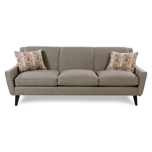 Jonathan Louis Vibe Mid Century Modern Tight Back Sofa