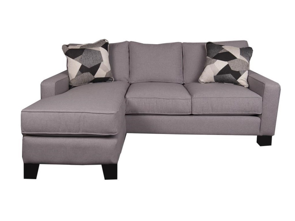 Jonathan Louis Eddie Modern Sectional Sofa Chaise with Decorative ...