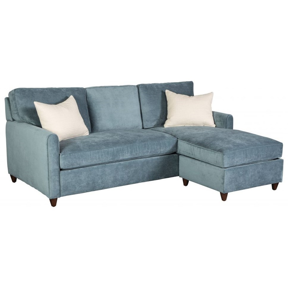 Emory Casual Queen Sleeper Sofa Sofa With Chaise And Storage Ottoman