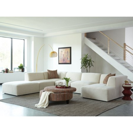 4-Seat Sectional Sofa w/ RAF Chaise