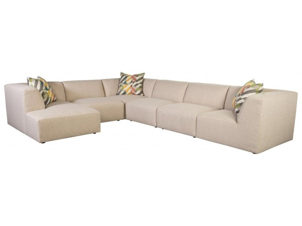 Jonathan Louis Finn Contemporary 5-Seat Sectional Sofa with ...