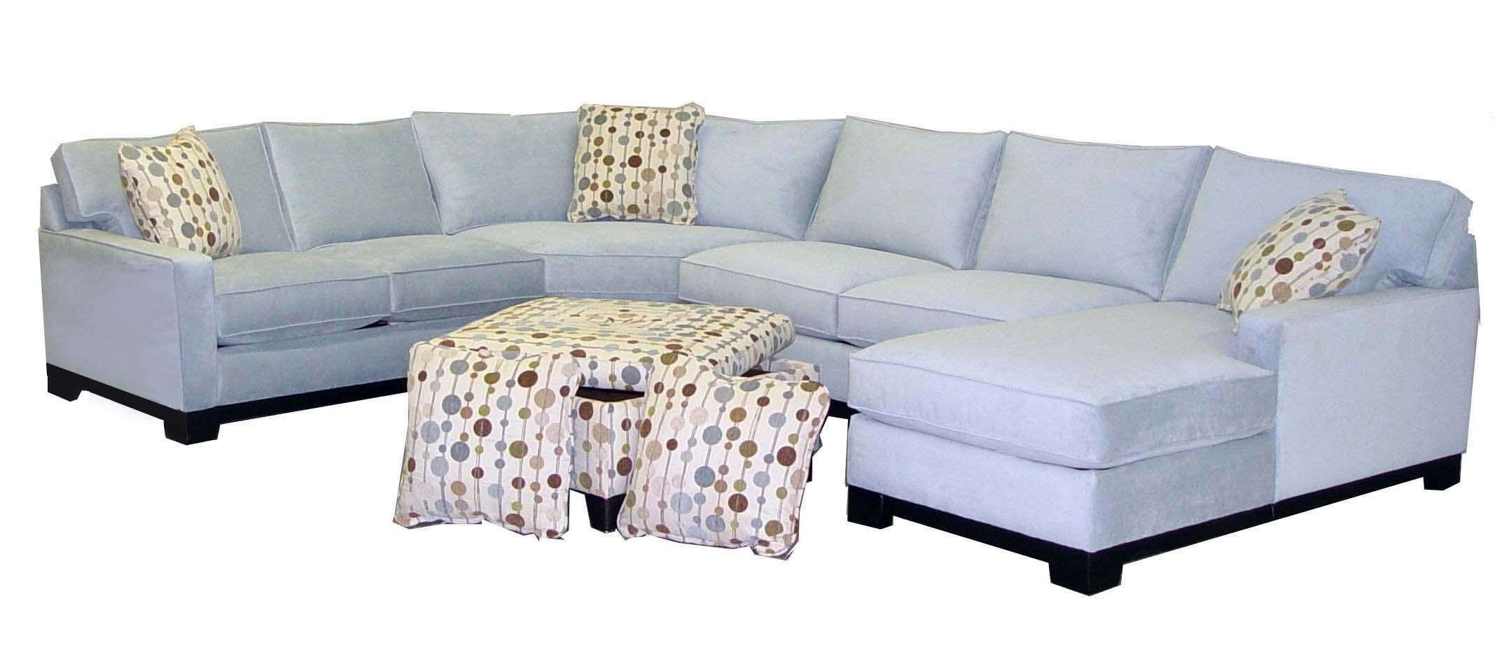 Gemini Contemporary Four Piece Sectional Sofa With RAF Chaise By Jonathan  Louis
