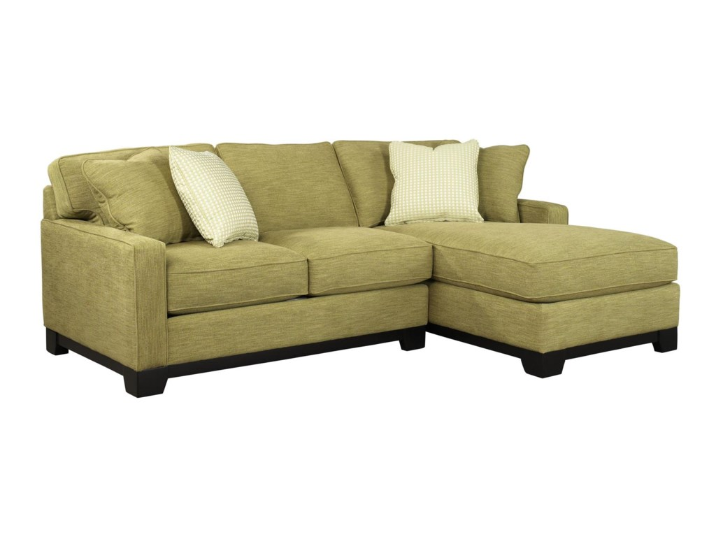 Jonathan Louis Gemini Contemporary Two Piece Sectional Sofa With Raf Chaise