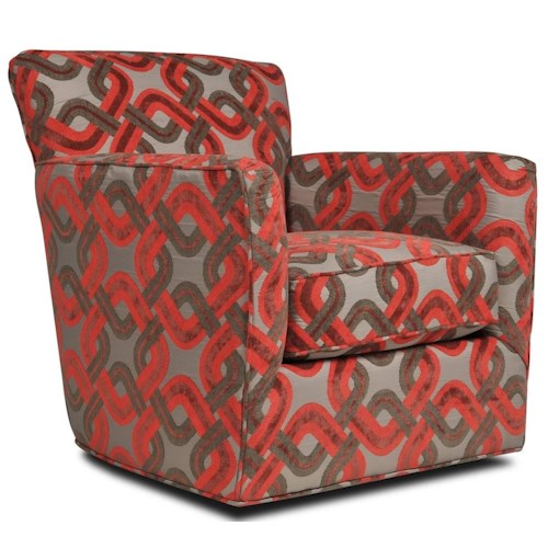 Jonathan Louis Grayson Casual Accent Swivel Chair with Tapered Arms
