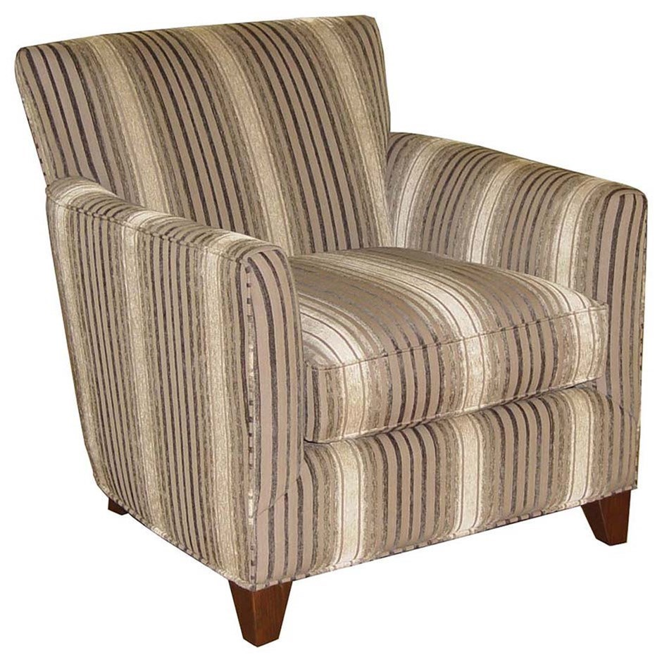 Jonathan Louis Grayson Casual Accent Chair With Tapered Feet