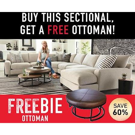 Harlow Sectional Sofa with Freebie!