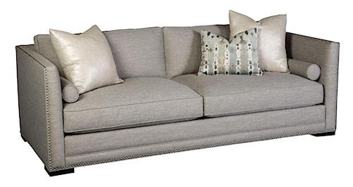 Jonathan Louis Hurston Contemporary Tuxedo Back Sofa with Nailheads and Bolster Pillows