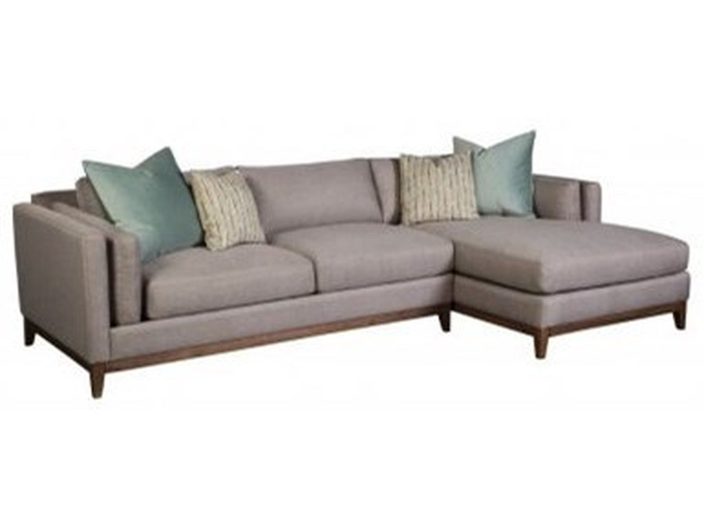 Jonathan Louis Kelsey Modern Sofa With Chaise And Pillow Inside Arm