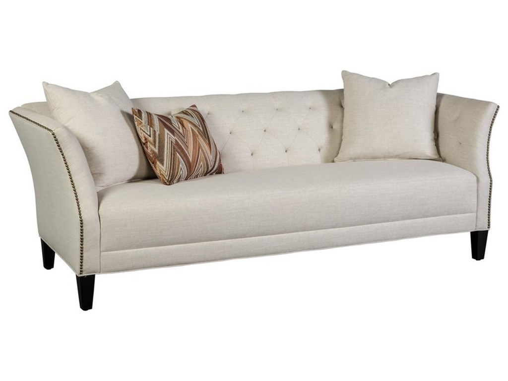 Jonathan Louis Layla Transitional Button Tufted Sofa With Flared