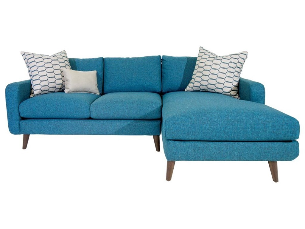 Jonathan Louis Leo Mid-Century Modern Sectional Sofa with Splayed ...