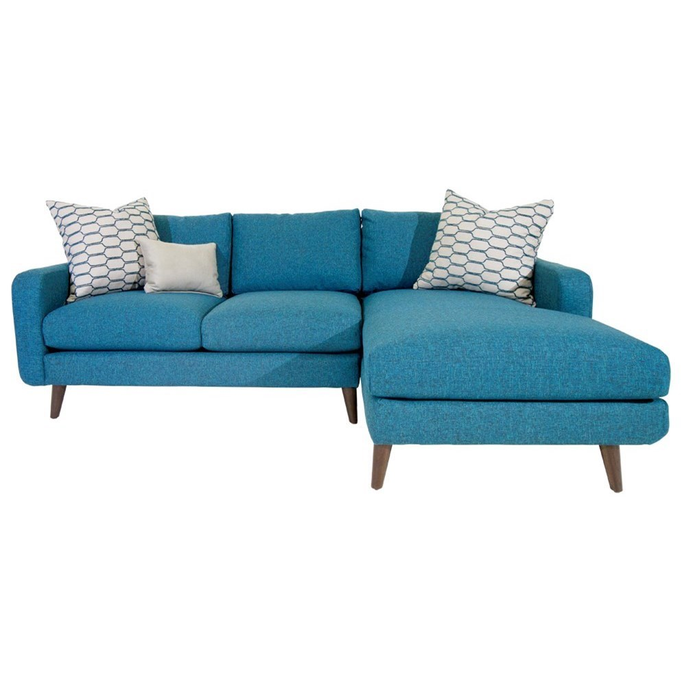 Jonathan Louis Leo Mid-Century Modern Sectional Sofa with Splayed Legs and Chaise - Miskelly Furniture - Sectional Sofas  sc 1 st  Miskelly Furniture : danish modern sectional sofa - Sectionals, Sofas & Couches