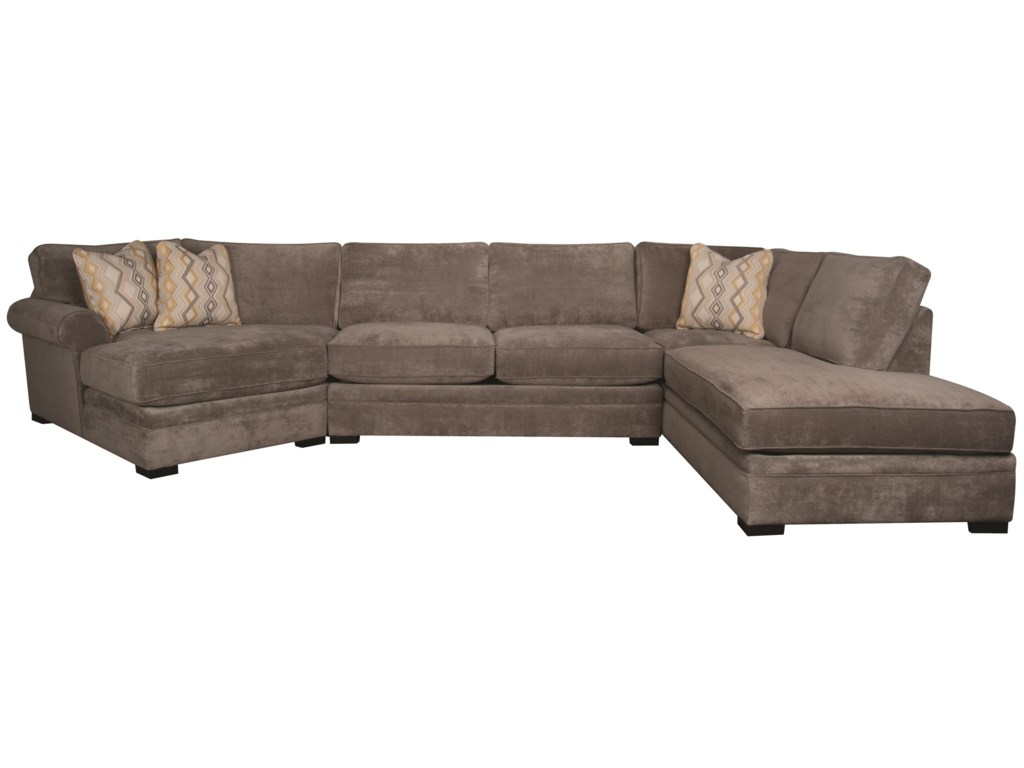 Santa Monica Lindalinda Sectional Sofa With Accent Pillows