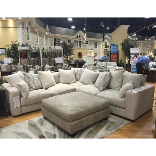 Jonathan Louis Ethan Contemporary Corner Sectional Pilgrim Furniture City Sectional Sofas