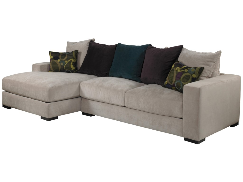 Jonathan Louis Lombardy Contemporary Sectional Sofa with Left Chaise ...