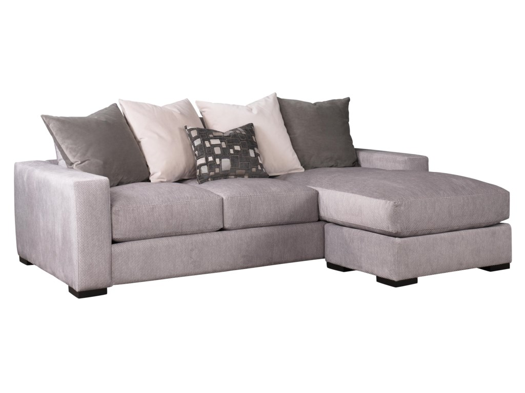 Jonathan Louis Lombardy Contemporary Sofa W Reversible Chaise