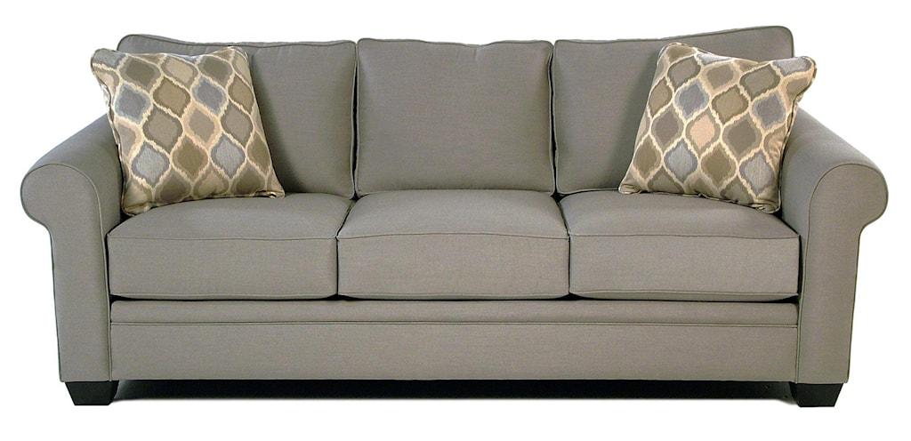Mackenzie Roll Arm Sofa W Sunbrella Fabric Rotmans Sofa