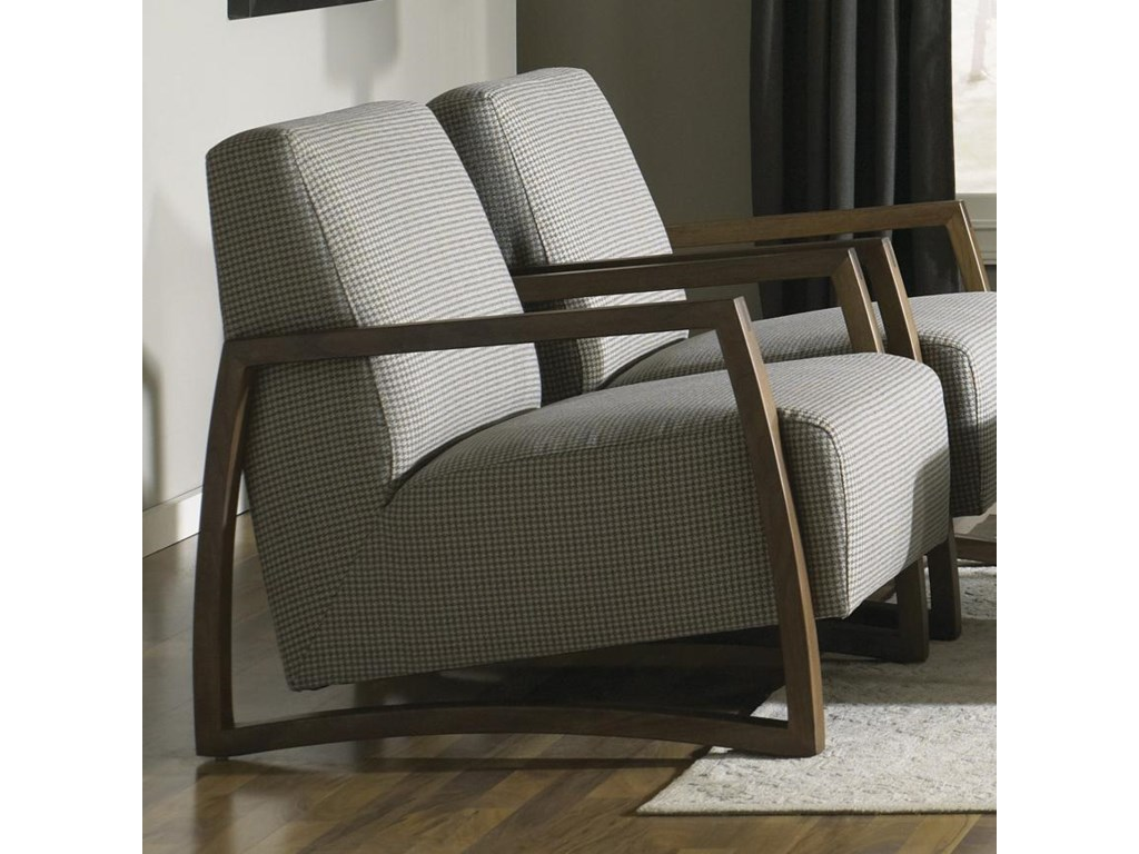 Jonathan Louis Mansfield 034-57 Exposed Wood Accent Chair in Lounge ...