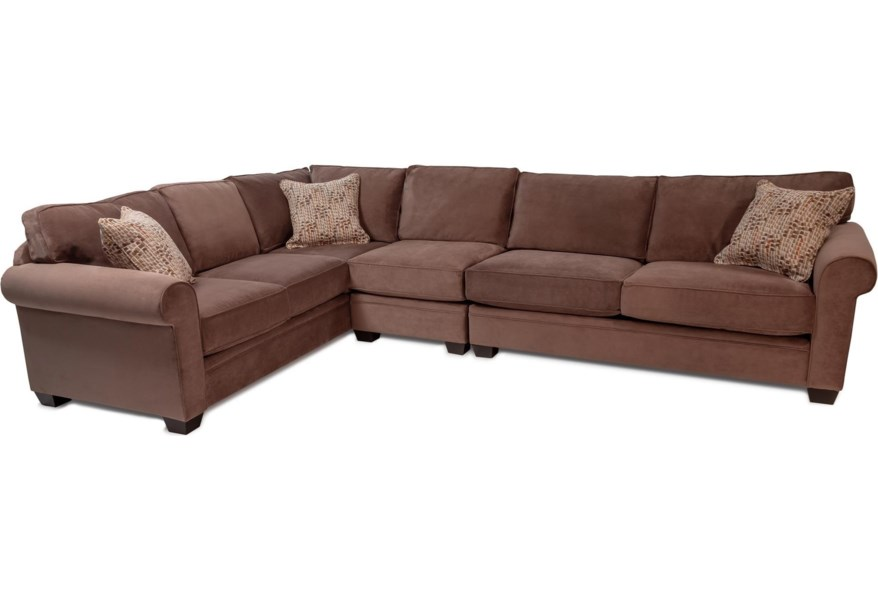 Truffle 3pc Sectional Sofa W Rolled