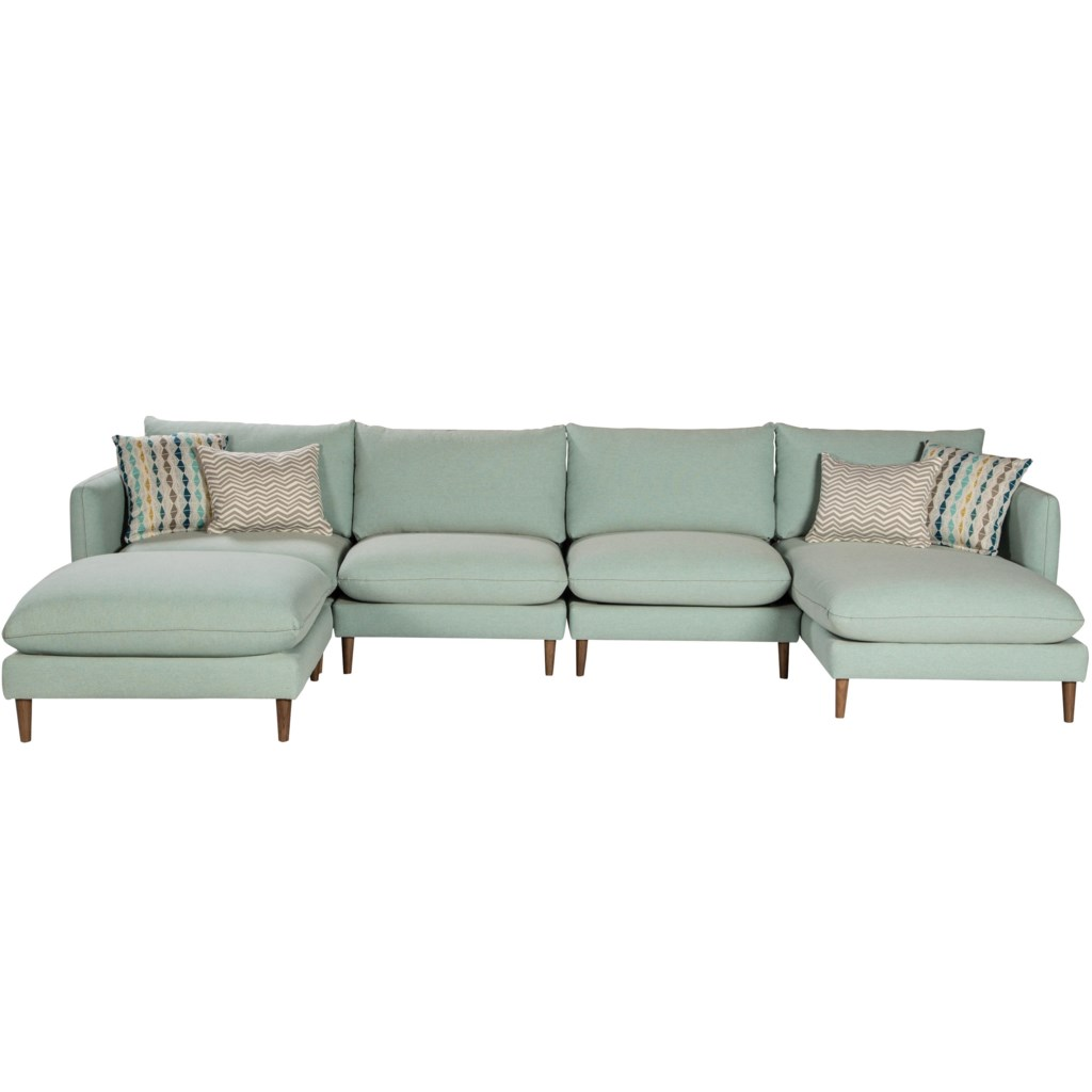 Furniture Legs Melbourne jonathan louis melbourne contemporary sectional with tapered legs