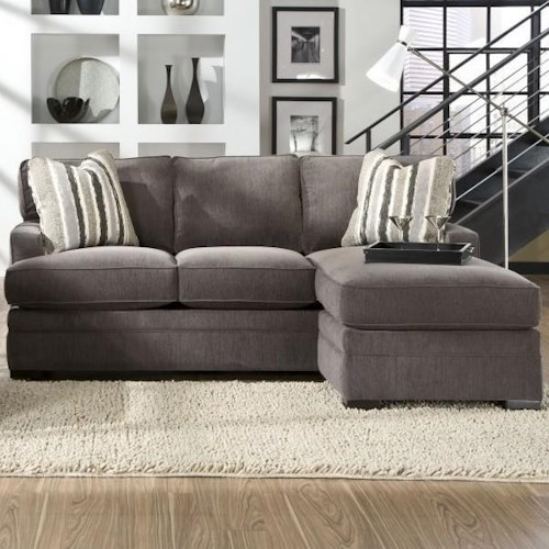 Jonathan Louis Choices - Neptune Casual Sofa with Chaise and Track Arms