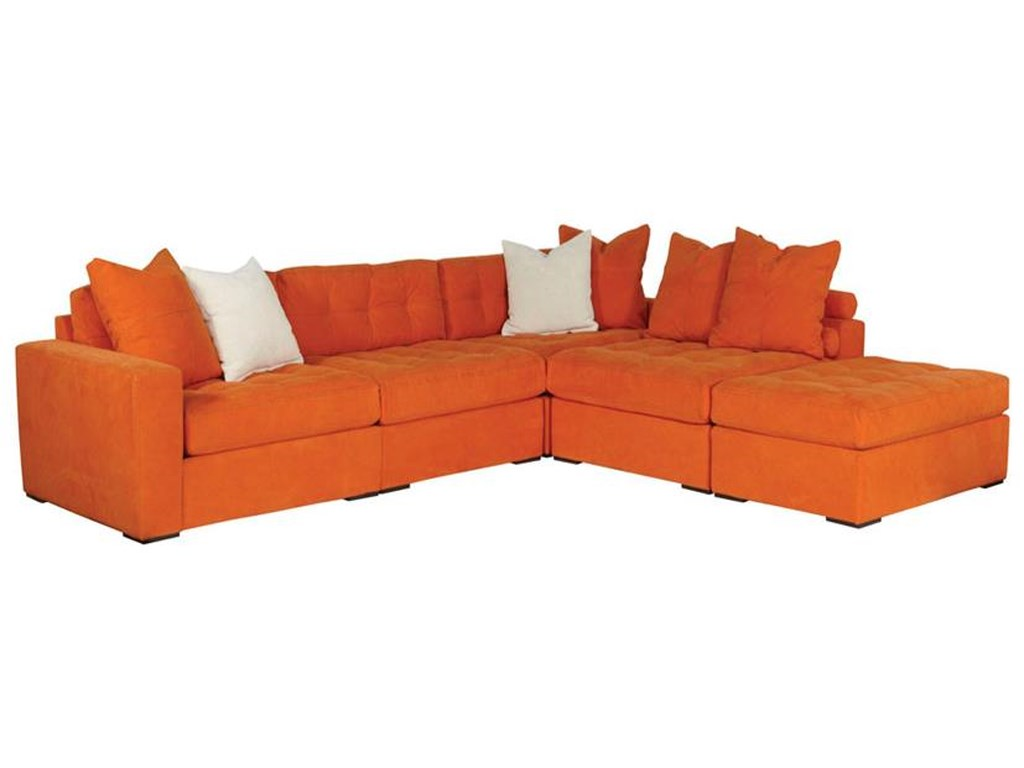 Noah 5-Piece Sectional with Ottoman
