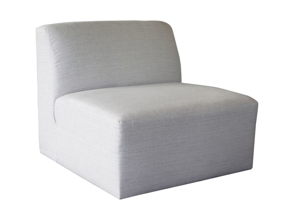 White Accent Chairs Used.Nyla Armless Chair By Jonathan Louis At Homeworld Furniture