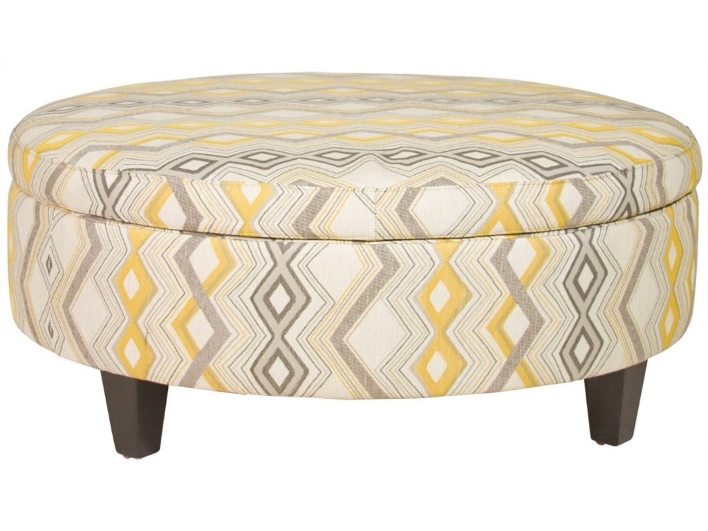 Jonathan Louis OttomansLarge Round Storage Ottoman