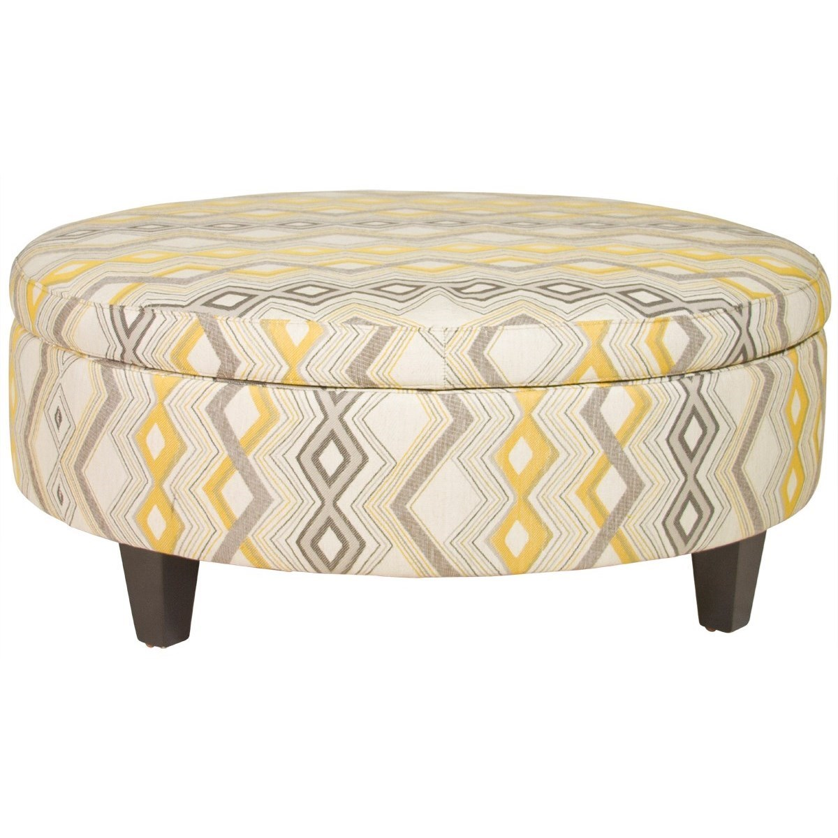 Jonathan Louis OttomansLarge Round Storage Ottoman ...