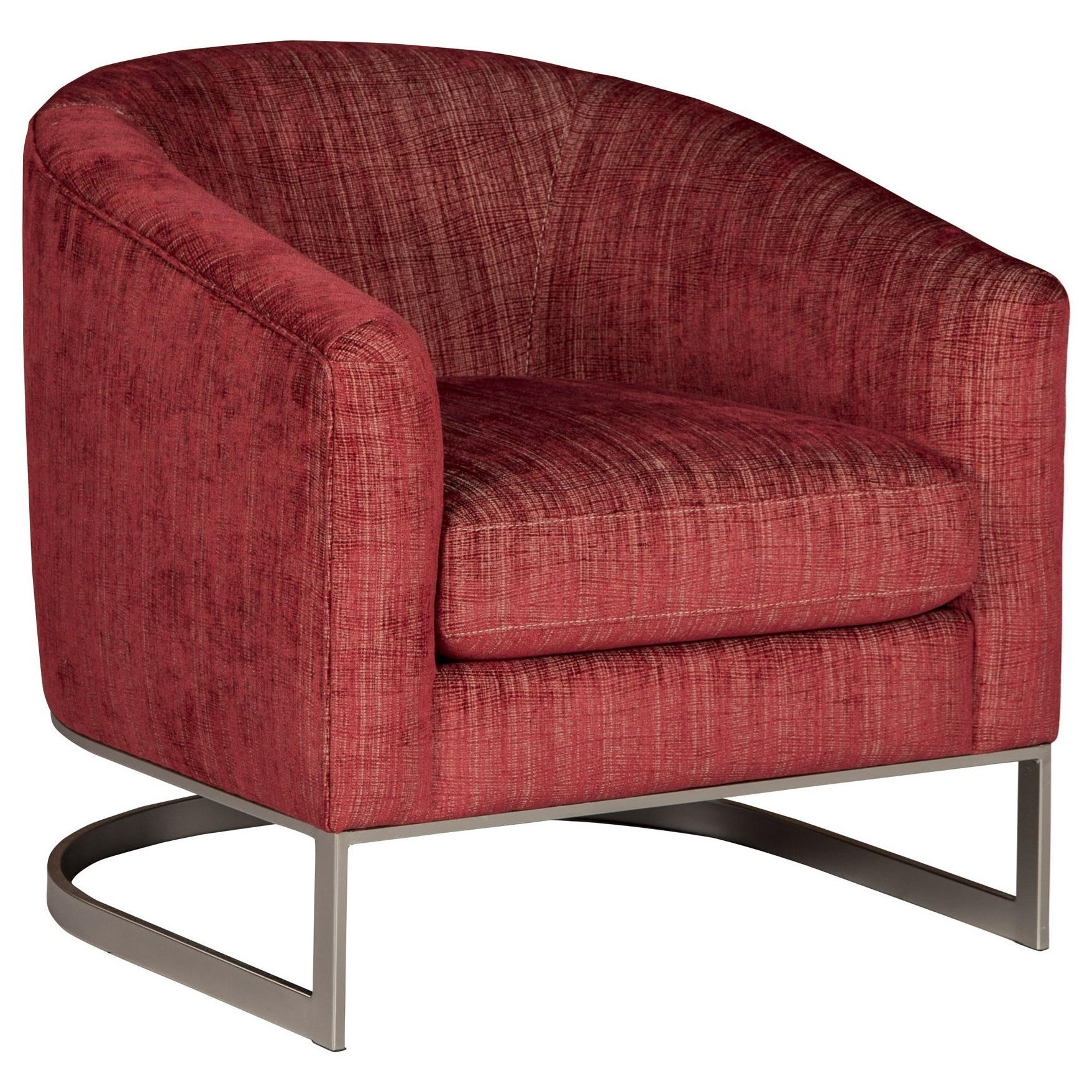 Beau Ronni Contemporary Accent Chair With Sloped Arms By Jonathan Louis