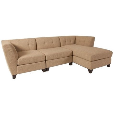 Jonathan Louis Tate Contemporary Sectional Sofa With Right Arm Facing Chaise And Tufted Back Thornton Furniture Sectional Sofas