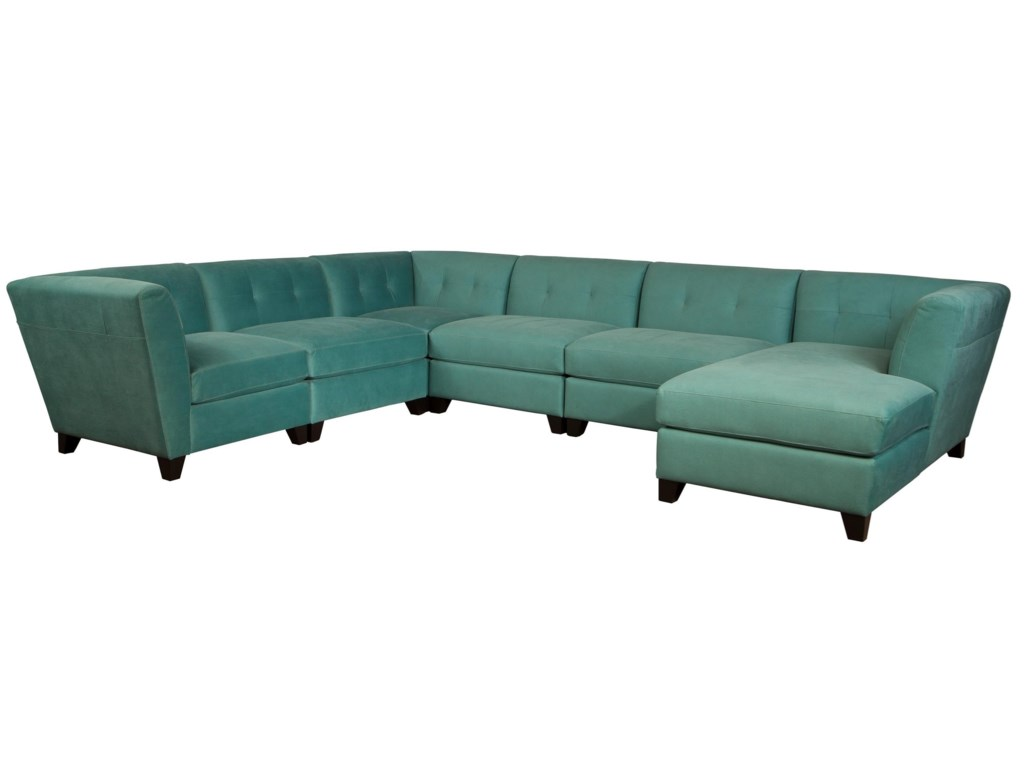 separation shoes 97e0a 052ae Jonathan Louis Tate Contemporary Sectional Sofa with Right ...
