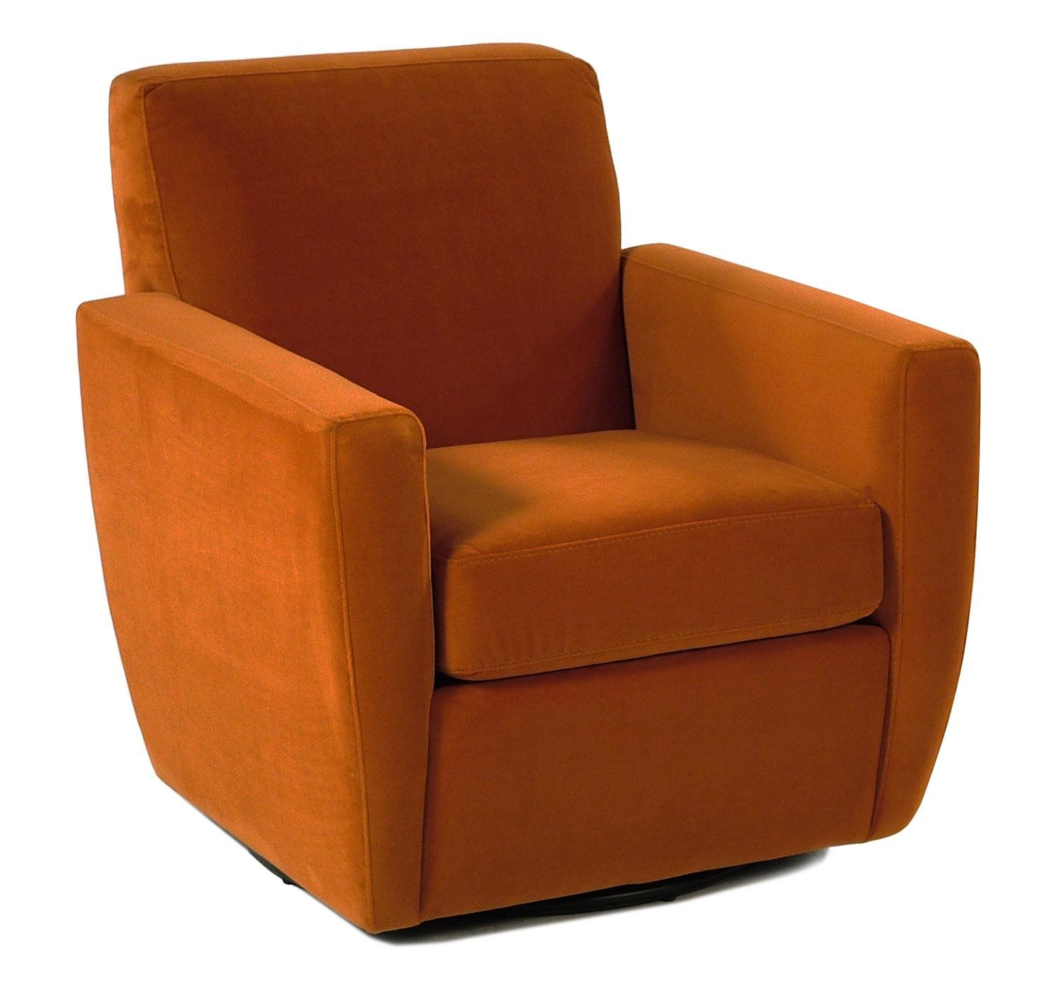 Jonathan Louis Splash Contemporary Swivel Chair With Track Arms