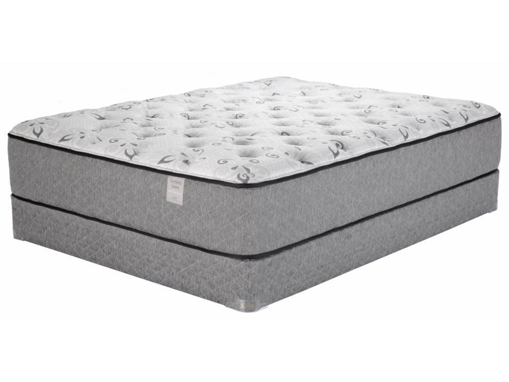Justice Furniture & Bedding Castlehill LuxuryTwin XL Plush Latex Lo Profile Set