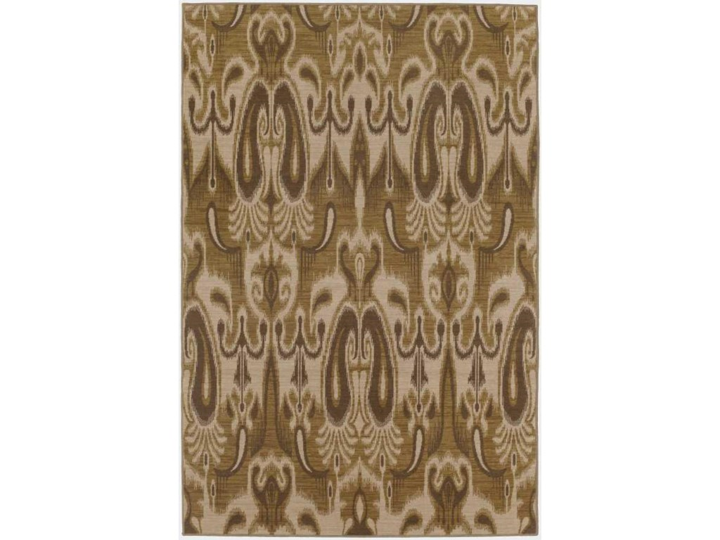 Karastan Rugs Belaire5.3 x 8.3 Area Rug : Wheat