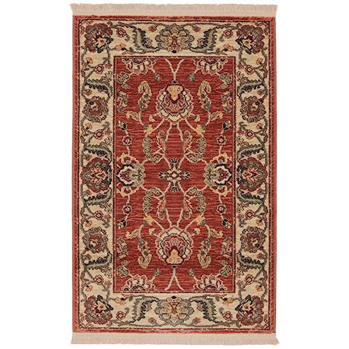 Karastan Rugs Ashara 2'6x4' Agra Red Rug