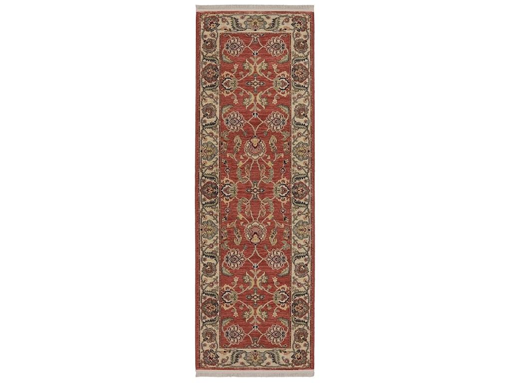 Karastan Rugs Ashara2'6x4' Agra Red Rug