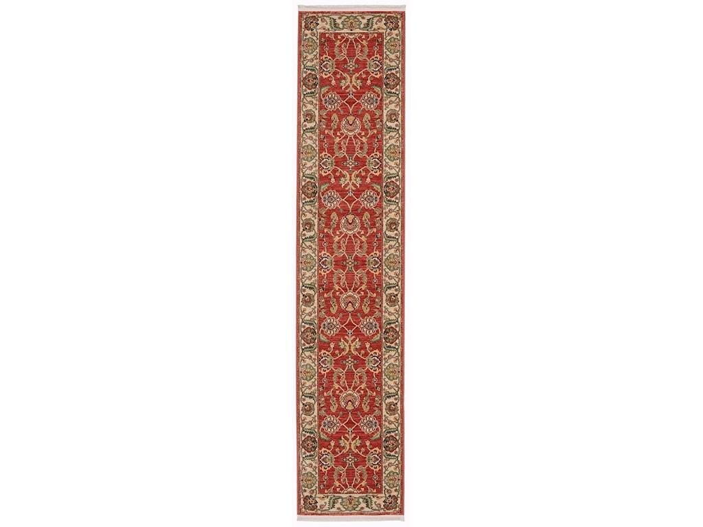 Karastan Rugs Ashara2'6x12' Agra Red Rug Runner